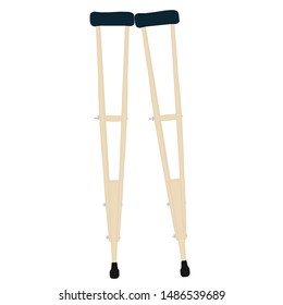 wooden crutches vector , crutches icon logo