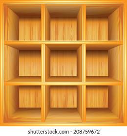 Wooden cupboard vector background