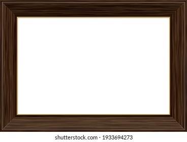 Wooden dark brown picture frame