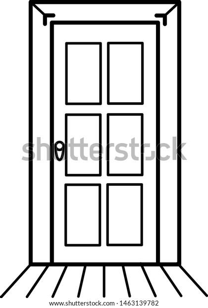 25+ Wooden Door Coloring Page