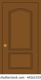 Wooden door illustration