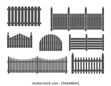 Wooden fence Clipart, Fence Vector, Picket fence, Board fence border clipart