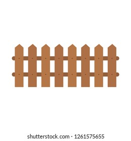 Wooden fence. Fence. Hedge Vector illustration. ?PS 10.