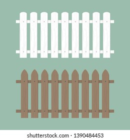 Wooden fence illustration. Farm wood wall yard, cartoon garden. Timber gate background pattern.