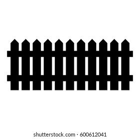 Wooden Fence silhouette isolated vector symbol icon design. Beautiful illustration isolated on white background