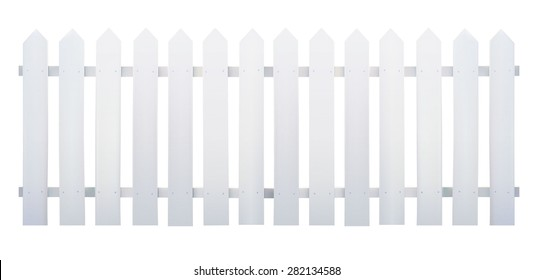 Wooden fence white - Vector illustration