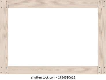 Wooden frame combined with white wood