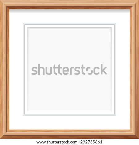 Wooden Frame Square Mat French Lines Stock Vector Royalty Free