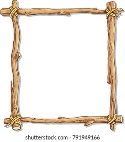 Wooden frame with white blank
