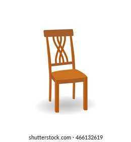 Wooden furniture . Vector illustration.