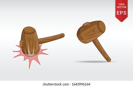 wooden hammer whack a mole