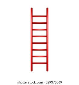 Wooden ladder in red design