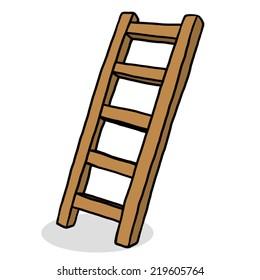 ladder drawing cartoon images  stock photos   vectors burning bush clipart bush clipart png