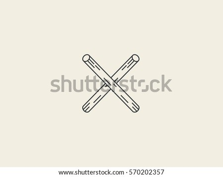wooden letter x logo vector graphic stock vector royalty free