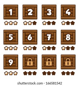Wooden level selection