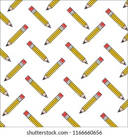 wooden pencil school creativity pattern