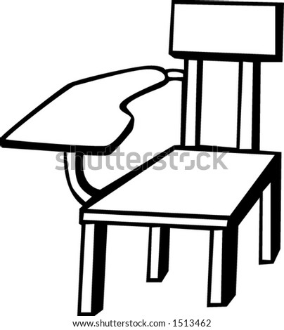 wooden school chair black white vector stock vector royalty free rh shutterstock com school chair clipart black and white school chair clipart black and white