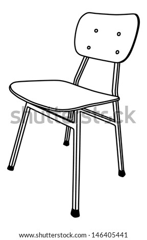 wooden school chair used classroom stand stock vector royalty free rh shutterstock com