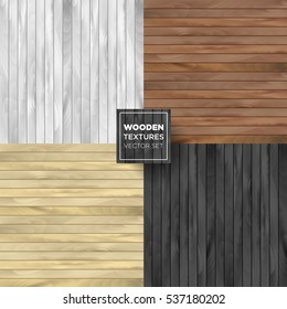 Wooden set of different color. Vector collection illustrations.