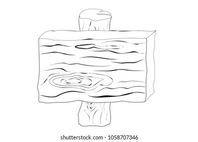 wooden sign board ,drawing image.
