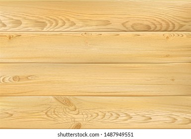 Wooden sign. Realistic highly detailed vector pine, coniferous wooden texture background. Hand drawn, no tracing
