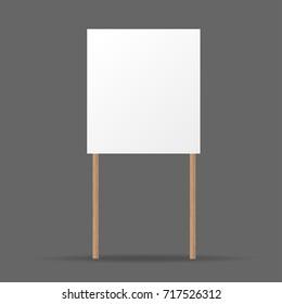 Wooden sign. white sign. vector illustration