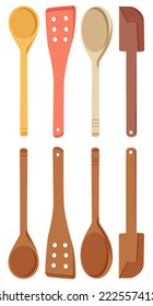 wooden spoons illustration