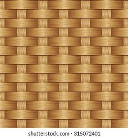 Wooden striped textured background, Wicker pattern, Basket weave pattern, Seamless pattern background.
