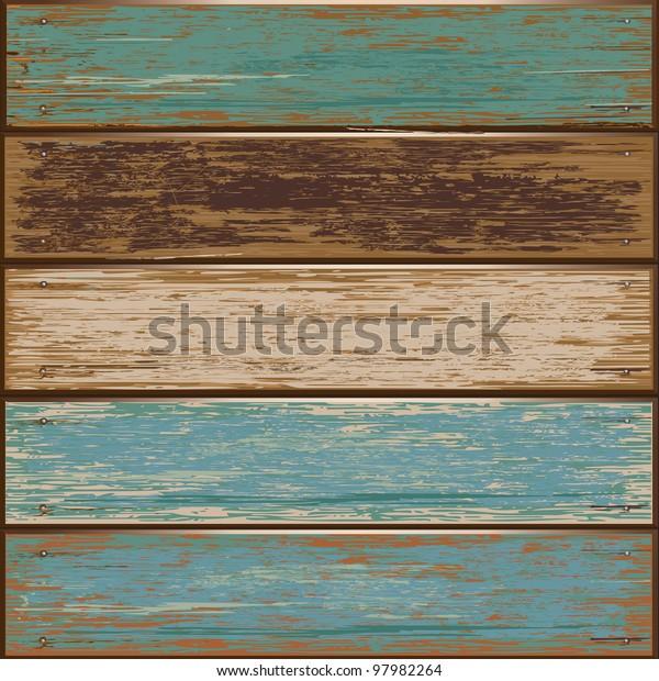 Wooden texture background. vector illustration.