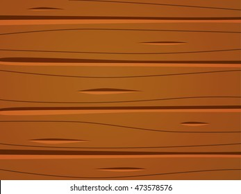 Wooden texture cartoon sign. Wooden mockup banners Vector Illustration. Cartoon illustration of the wooden surface with planks.