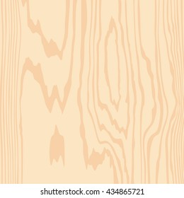 Wooden texture. Plywood pattern. Veneer surface. Vector illustration