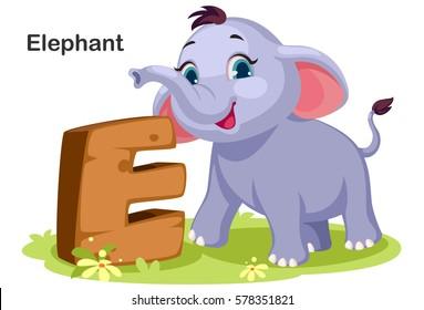Cartoon alphabet images stock photos vectors shutterstock wooden textured bold font alphabet e e for elephant altavistaventures Image collections