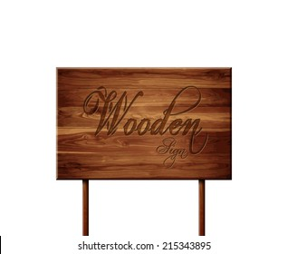 Wooden vector sign