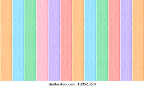 wooden wall pastel soft color for background, multi color wooden wall strip, rainbow colored soft wooden, colorful pastel wood planks and rods slat, wood floor texture soft colors for wallpaper banner