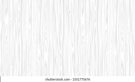 Wooden white soft  surface background, vector plank wood texture. Editable, no trace