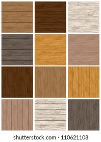 Woodgrain Background Set