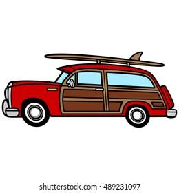 Woodie Surf Wagon