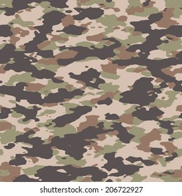 Woodland seamless camouflage pattern vector. 200+ camo textures in my portfolio.