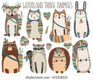 Woodland Tribal Animals Volume 3 Cute Vector Illustration