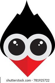 woodpecker icon funny expression