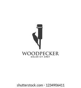 woodpecker logo design
