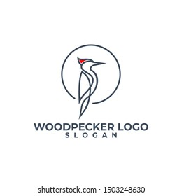 woodpecker logo design white background