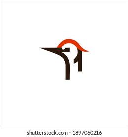 Woodpecker Symbol Logo. Vector Illustration.