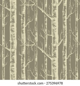 Woods seamless pattern