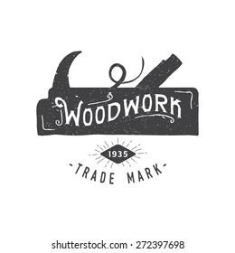 Woodwork retro vintage emblem