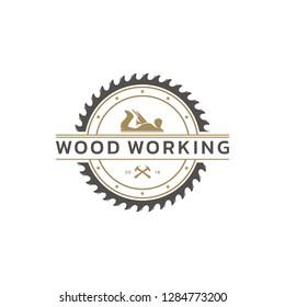 WoodWorking, Handcraft Logo Template