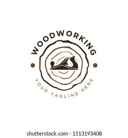 woodworking logo design concept template