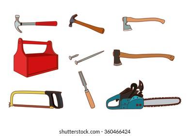 Woodworking tools set