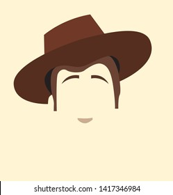 Woody toy story brown vector western cowboy hat