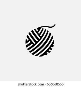 wool ball icon